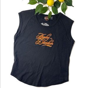 Harley Davidson Signature Sz Small Sleeveless Top